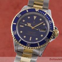 Rolex Submariner Date Złoto/Stal 40mm Niebieski