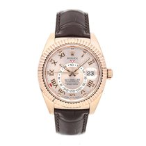 Rolex Rose gold Automatic Pink Roman numerals 42mm pre-owned Sky-Dweller