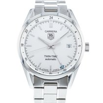 TAG Heuer Carrera Calibre 7 pre-owned 39mm Silver Steel