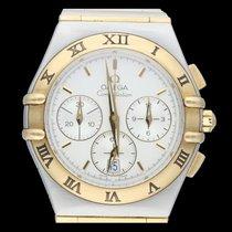 Omega Constellation Or/Acier 36mm Blanc Sans chiffres