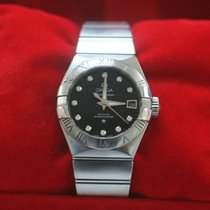 Omega Constellation Ladies Steel 27mm Black