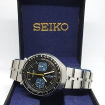 Seiko Bullhead Steel 44mm Black No numerals