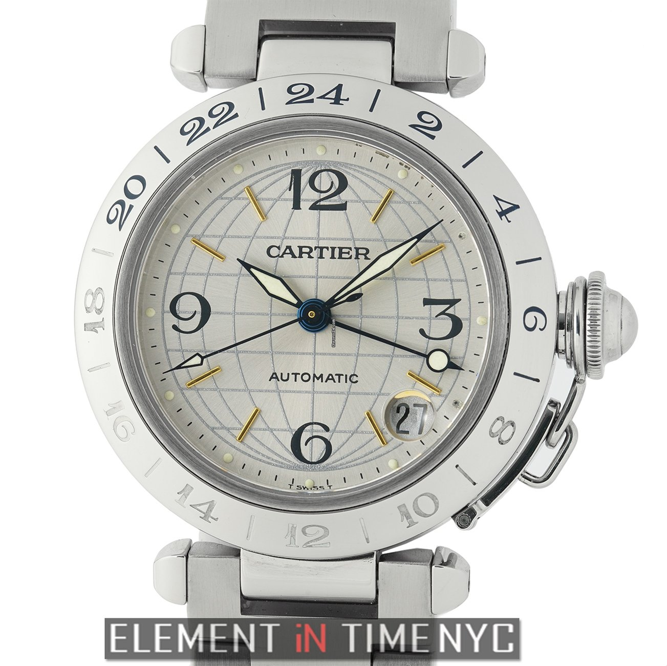 626c656b33a1a Cartier Pasha Collection Pasha GMT Stainless Steel 35mm Automatic ...