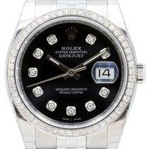 Rolex Datejust 116200 Diamond Black 36mm Stainless Steel Jubilee
