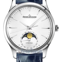 Jaeger-LeCoultre Steel Automatic Silver 34mm new Master Ultra Thin Moon