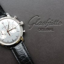 Glashütte Original Sixties Chronograph Steel 42mm Silver No numerals