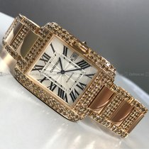 Cartier - 3504 Anglaise Tank Rose Gold White Dial Rose Gold...
