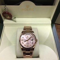 Rolex Day-Date 36 Or rose 36mm Brun France, Paris