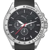 Puma PU104021003 Silver Black Chrono 46mm 10ATM