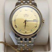Omega De Ville Prestige Gold/Steel 39.5mm Champagne Roman numerals