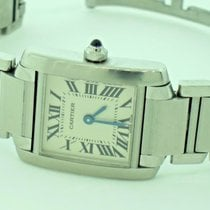 Cartier Tank Française Steel 25mm Silver Roman numerals United States of America, New York, Greenvale