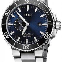 Oris Aquis Small Second Steel 45.5mm Blue