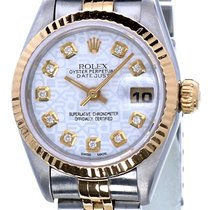 Rolex Oyster Datejust Jubilee Gold Steel White Diamond Dial 26mm