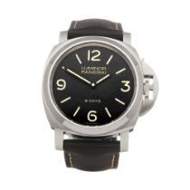Panerai Luminor Base 8 Days Stal 44mm Czarny Arabskie