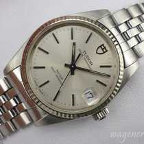 Tudor Prince Oysterdate Gold/Steel 32mm Silver No numerals
