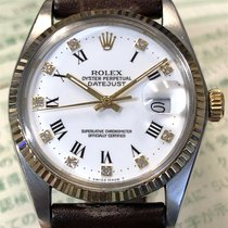 Rolex Datejust pre-owned 36mm White Date Leather