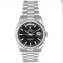 Rolex Day-Date 36 36mm Schwarz Arabisch