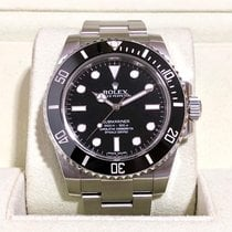 Rolex Submariner (No Date) pre-owned Black Steel