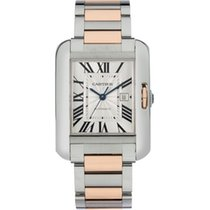 Cartier Tank Anglaise Gold/Steel 39.2mm Silver Roman numerals United States of America, New York, Scarsdale
