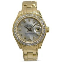 Rolex Mother of pearl 29mm pre-owned Lady-Datejust Pearlmaster