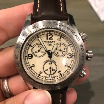 Tissot V8 pre-owned 42.5mm Champagne Leather
