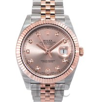 Rolex Or rose Remontage automatique Rose 41mm nouveau Datejust II