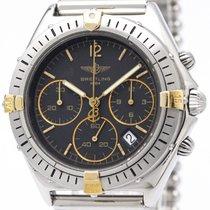 Breitling Chrono Jetstream 18k Gold Steel Quartz Watch B55045...