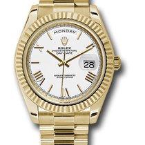 Rolex Day-Date 40 Or jaune 40mm Blanc