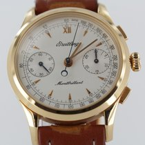 Breitling Red gold Manual winding White 38mm pre-owned Montbrillant