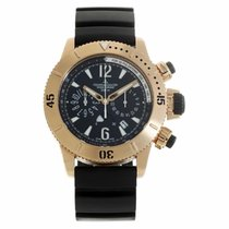 Jaeger-LeCoultre Yellow gold Automatic Black No numerals 44mm pre-owned Master Compressor Diving