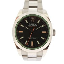 Rolex Milgauss Green Glass black dial