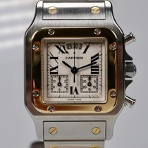 Cartier Santos Galbée usados 32mm Acero y oro
