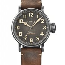 Zenith Steel Automatic Grey new Pilot Type 20 Extra Special