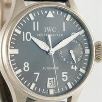 IWC Big Pilot Bjelo zlato 46mm Siv Arapski brojevi