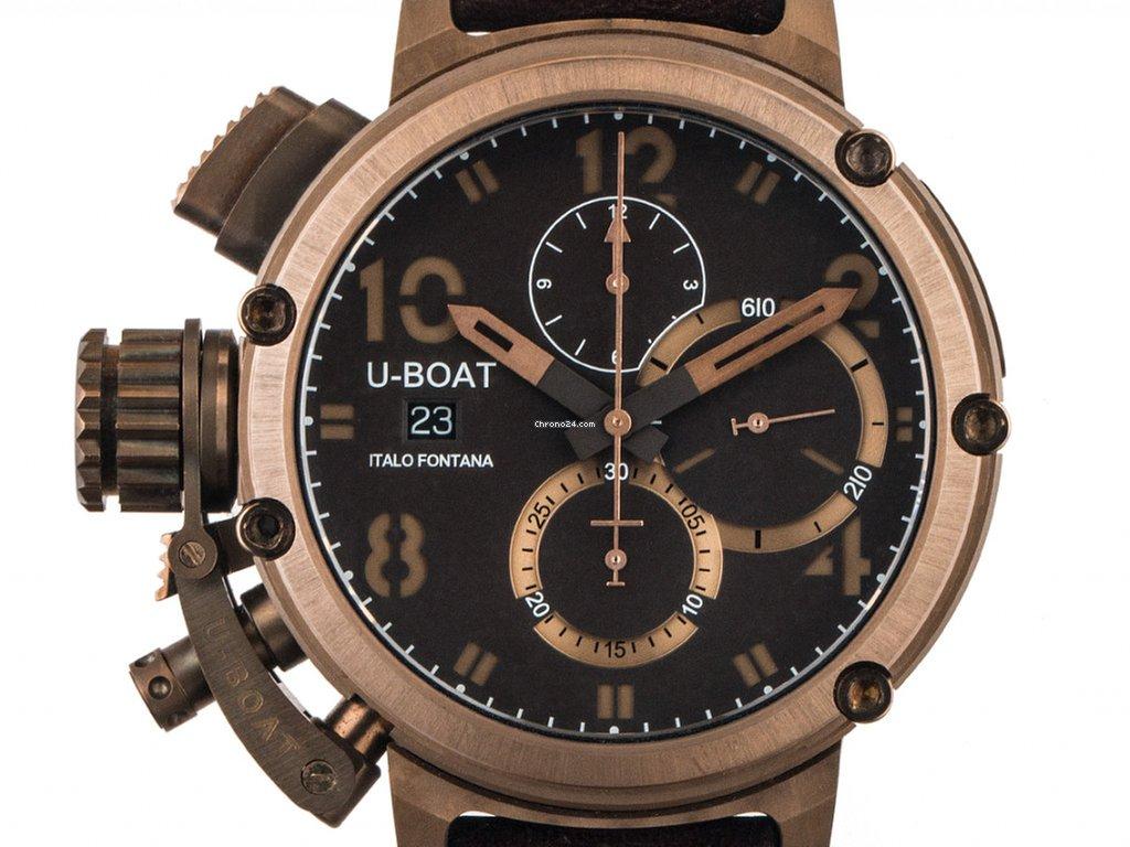 Ref U 46mm Neu Fontana Über Italo Boat Chronograph Bronze Leder Limitiert 250€ 46 7474 Armband 8 Zertifikat Mit Chimera Automatik bfvY7yg6