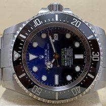 Rolex Sea-Dweller Deepsea Stahl 44mm Blau Keine Ziffern