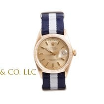 Rolex Mens 18K Yellow Gold Day-Date President -Champagne Dial...