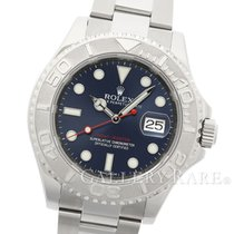 ロレックス (Rolex) Yacht Master Platinum Bezel Blue Dial Steel 40MM
