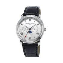 Frederique Constant Classics Business Timer Steel 40mm Silver Roman numerals