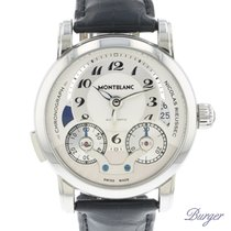 Montblanc Chronograph 43mm Automatic pre-owned Nicolas Rieussec Silver