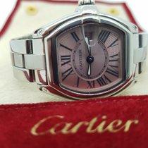 Cartier Roadster Stal 31mm Różowy Rzymskie