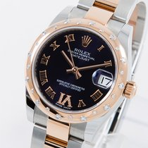Rolex Lady-Datejust Gold/Stahl 31mm Schwarz Römisch Deutschland, Weißenhorn