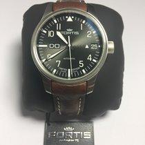 Fortis F-43 Steel 43mm Black Arabic numerals