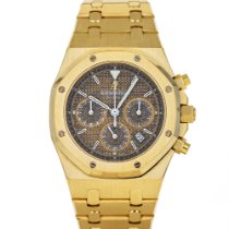 Audemars Piguet Yellow gold Automatic Grey 39mm pre-owned Royal Oak Chronograph