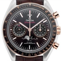 Omega Speedmaster Professional Moonwatch Moonphase Or/Acier 44.2mm Brun