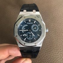 Audemars Piguet Royal Oak Dual Time pre-owned 39mm Blue Date Crocodile skin