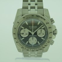Tudor Steel Automatic Silver No numerals 41mm new Sport Chronograph