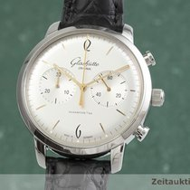 Glashütte Original Sixties Chronograph pre-owned 42.5mm Silver Chronograph Crocodile skin