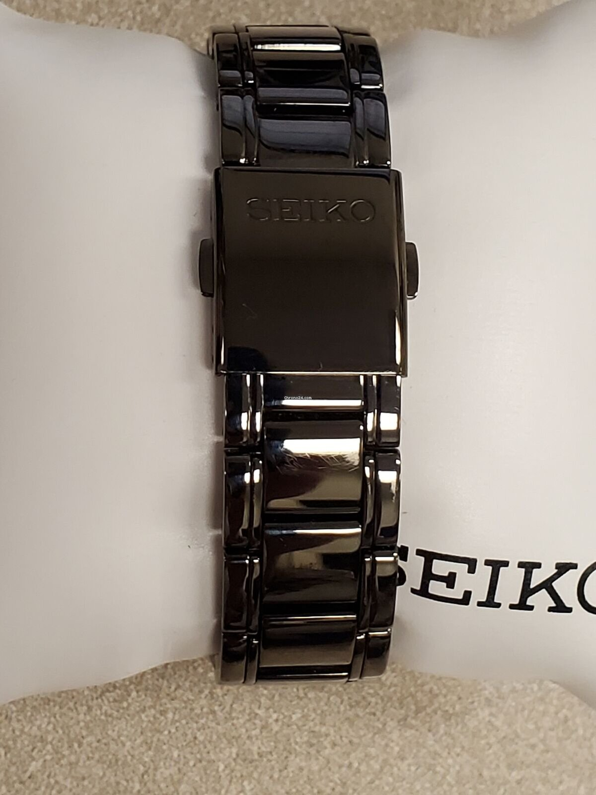 Seiko Core Black Dial Stainless Steel Men's Watch Ssc095
