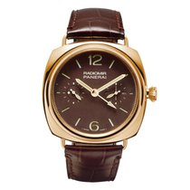 Panerai Rose gold Manual winding Brown No numerals 48mm pre-owned Special Editions